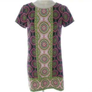 London Times Petite 12P Dress Shift Circles Knee
